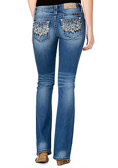 Miss Me Feather Pocket Jeans