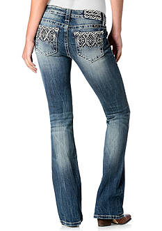 Miss Me Aztec Embroidery Bootcut Jeans