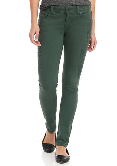 Miss Me Side Embroidered Skinny Jean