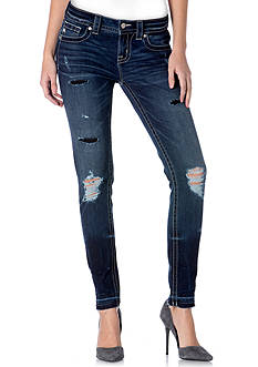 Miss Me Destructed Released Hem Skinny Jeans
