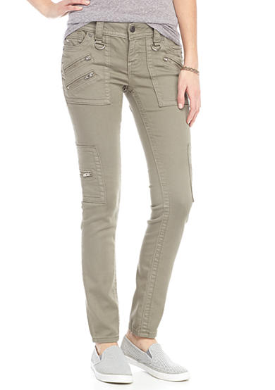 Miss Me Military Side Pocket Skinny Pants