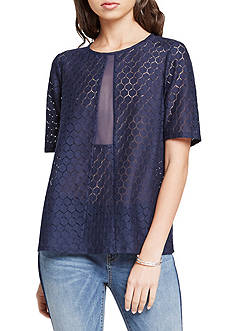 BCBGeneration Sheer Lace Top