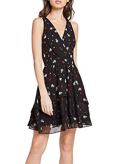 BCBGeneration Printed Surplice Dress