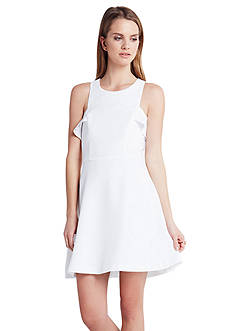BCBGeneration High Neckline Ruffle Dress