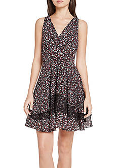 BCBGeneration Floral Surplice Dress