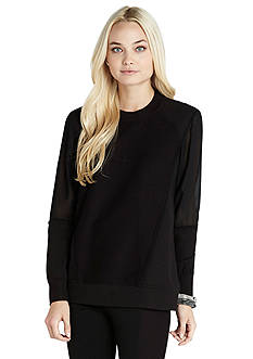 BCBGeneration Contrast Panel Pullover Top