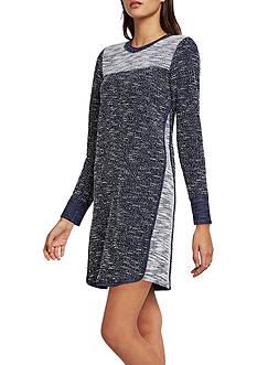 BCBGeneration Boucle Color-Blocked Sweatshirt Dress