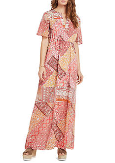 BCBGeneration Rug Patchwork Print Maxi Dress