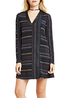 BCBGeneration Stripe V Neck Dress