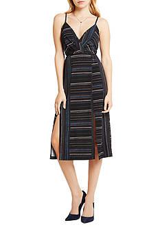 BCBGeneration Drape Back Slit Midi Dress