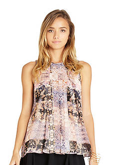 BCBGeneration Print Pleat Blouse