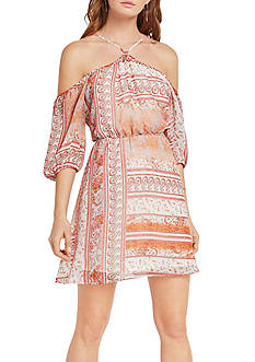 BCBGeneration Cross Front Cold Shoulder Dress