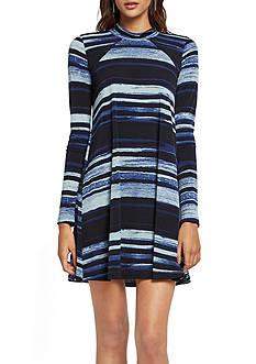 BCBGeneration Stripe Flare Dress