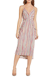 BCBGeneration Stripe Faux Wrap Dress
