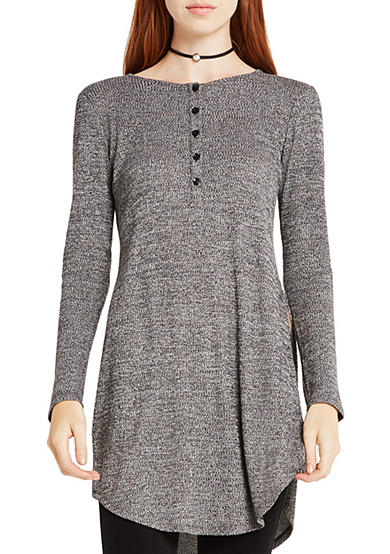 BCBGeneration Curved Hem Henley Top