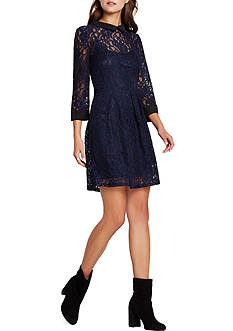 BCBGeneration Lace Collared Dress
