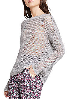 BCBGeneration Novelty Open Net Stitch Pullover