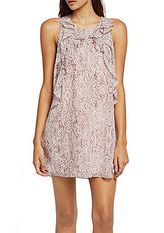BCBGeneration Snake Print Ruffle Dress