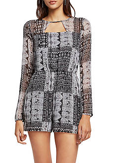 BCBGeneration Shadow Patchwork Cutout Romper