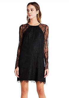 BCBGeneration Lace Sleeve Dress