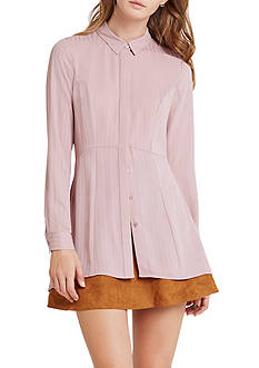 BCBGeneration Pleated Button Down Tunic Dress