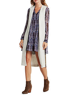 BCBGeneration Seamed Lapel Long Vest