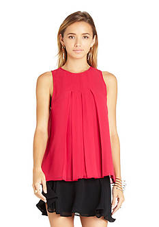BCBGeneration Sleeveless Pleat Blouse