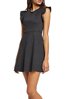 BCBGeneration Ponte Flutter-Sleeve Dress