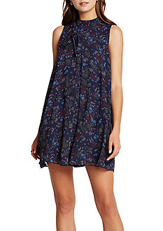 BCBGeneration High Neck Pleat Dress