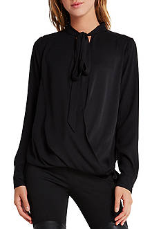 BCBGeneration Neck Scarf Crossover Top