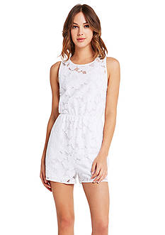 BCBGeneration Sleeveless Lace Romper