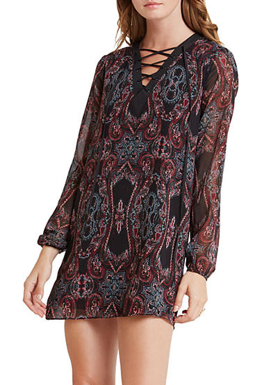 BCBGeneration Laced Front A-Line Dress