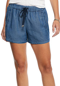 Splendid Chambray Drawstring Shorts