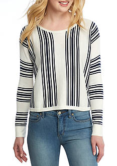 Splendid Bayside Stripe Hi-Low Pullover