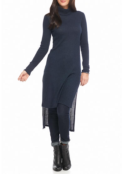 Splendid Hi Lo Mock Neck Tunic