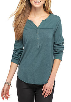 Splendid Mixed Media Henley Thermal