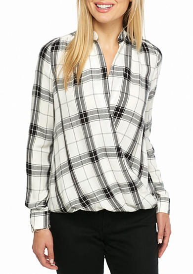 Splendid Estridge Plaid Woven Top