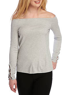 Splendid Sandwash Rib Knit Top
