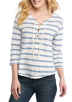 Splendid Cliffbrook Melange Stripe Top