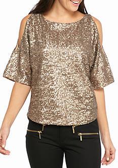 Splendid Sequin Dolman Sleeve Top