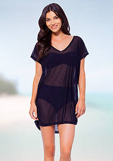 Anne Cole Signature® Solid Mesh Tunic Cover-Up