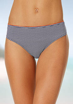 Anne Cole Signature Baby Stripe Classic Mid-Rise Bikini Bottom