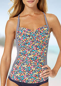 Anne Cole Signature Budding Romance Twist Front X-Back Tankini