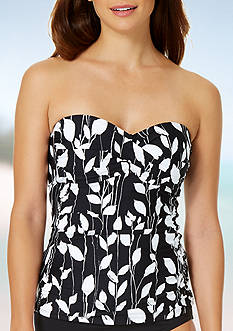 Anne Cole Signature Vines Twist Front Tankini Bra Swim Top