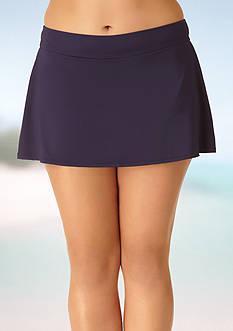 Anne Cole Signature Plus Size Colorblast Classic Skirt Swim Bottom