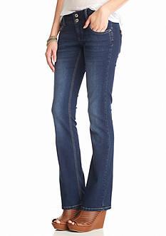 Red Camel Leather Inset Back Pocket Jeans