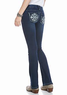 Red Camel Embellished Straight Leg Jeans