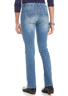Red Camel Light Wash Stitch Pocket Boot Jeans