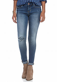 Red Camel Destructed Roll Cuff Abby Jeans