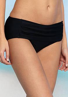 New Directions Ruched Hi-Waist Swim Bottom